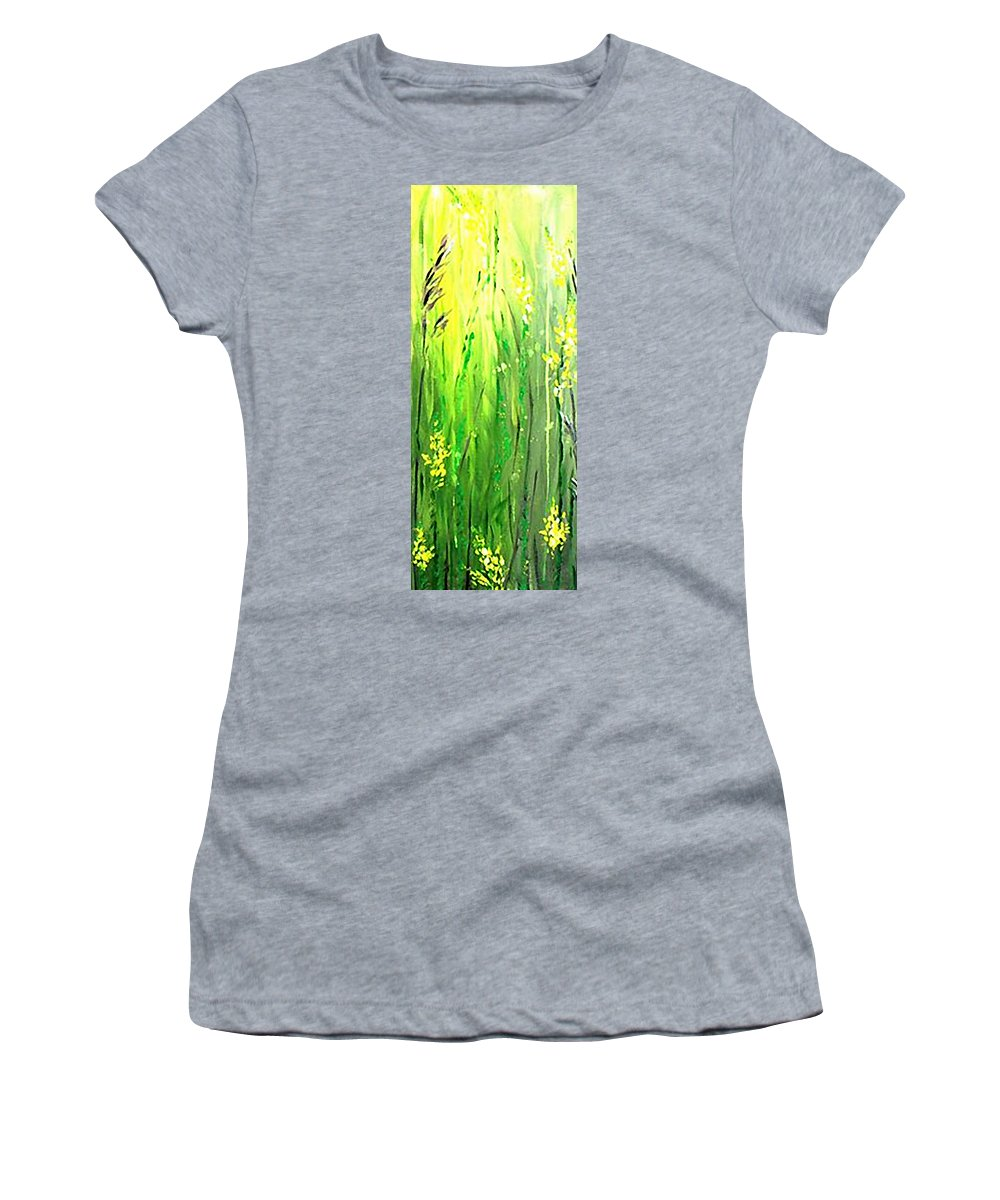 Growing Wild Women's T-Shirt (Athletic Fit) featuring the painting Growing Wild by Kume Bryant