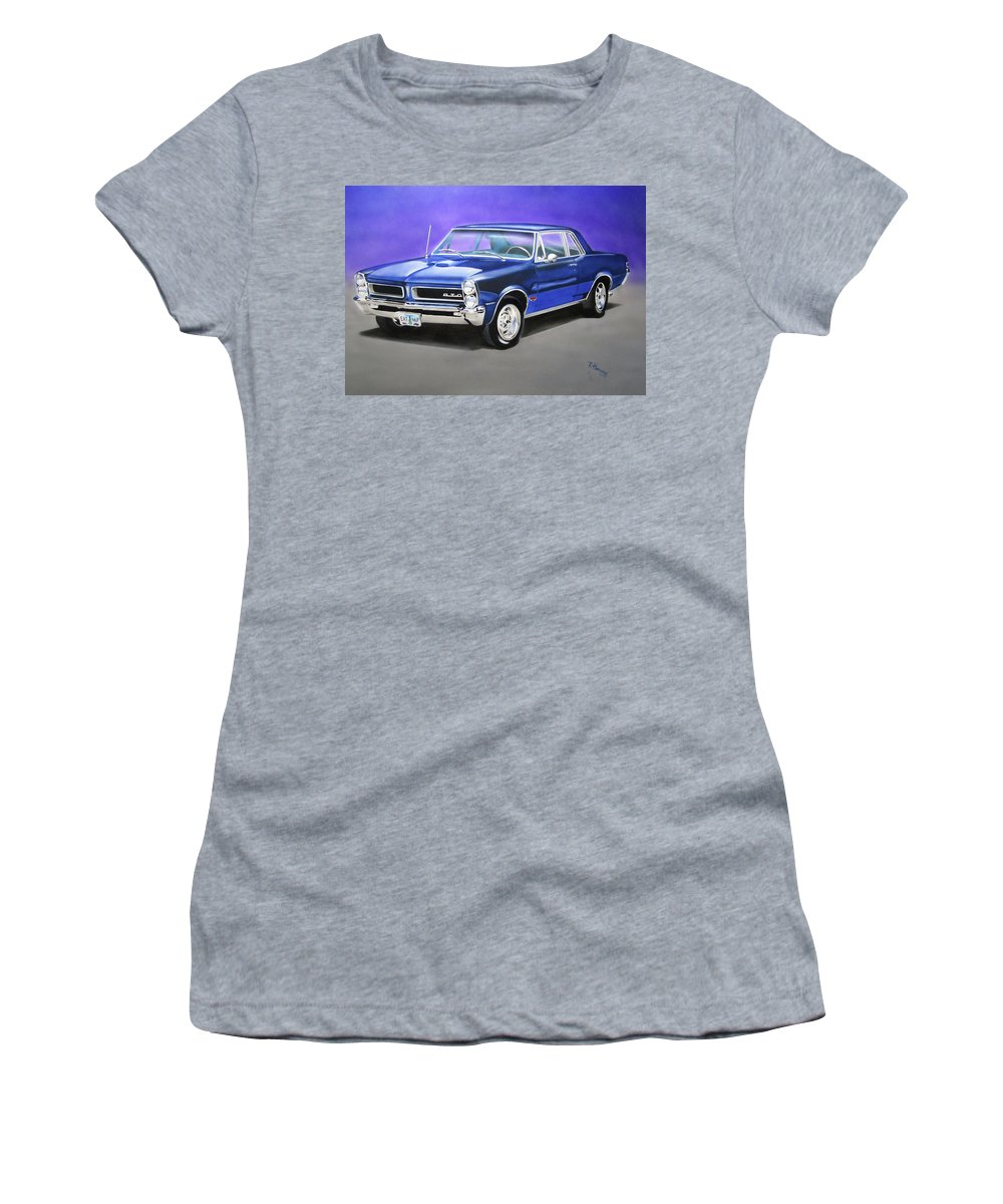 Gto Women's T-Shirt (Athletic Fit) featuring the painting Gto 1965 by Thomas J Herring