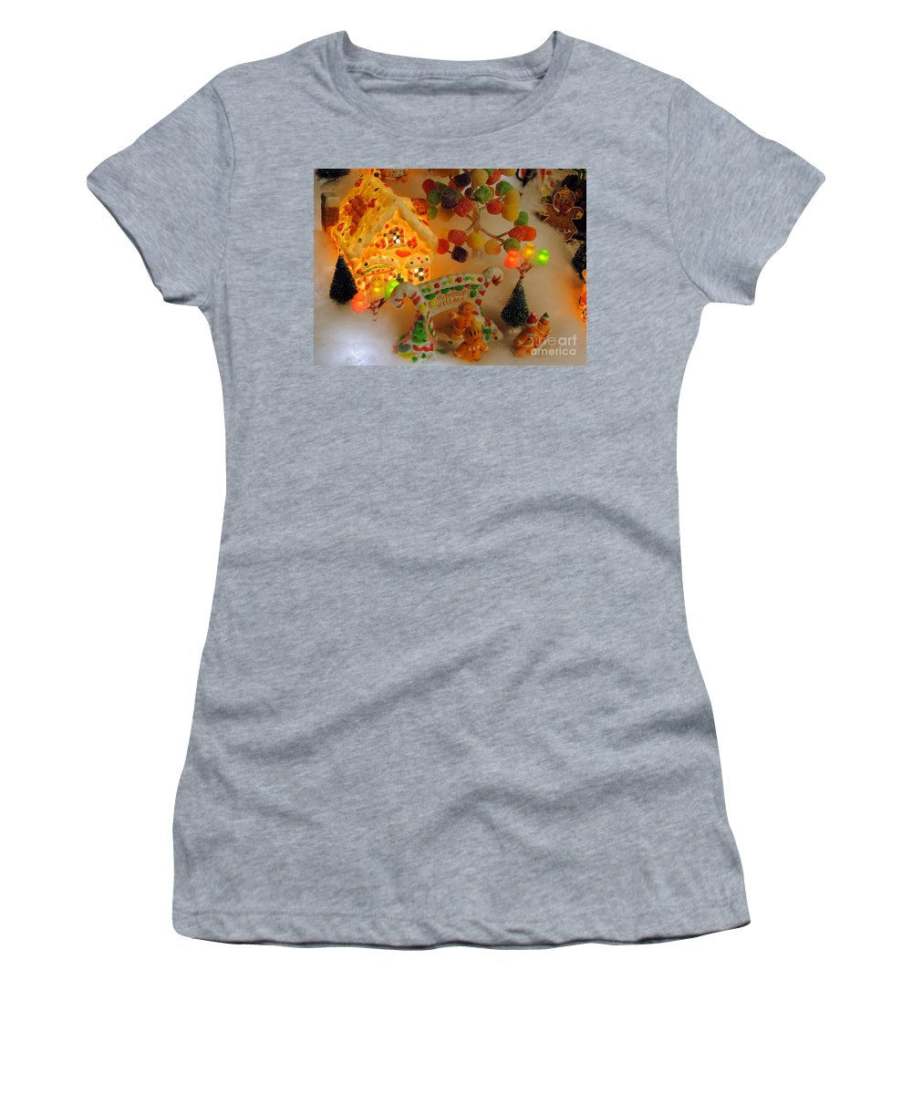 Scenic Tours Women's T-Shirt featuring the photograph Gumdrop Village by Skip Willits