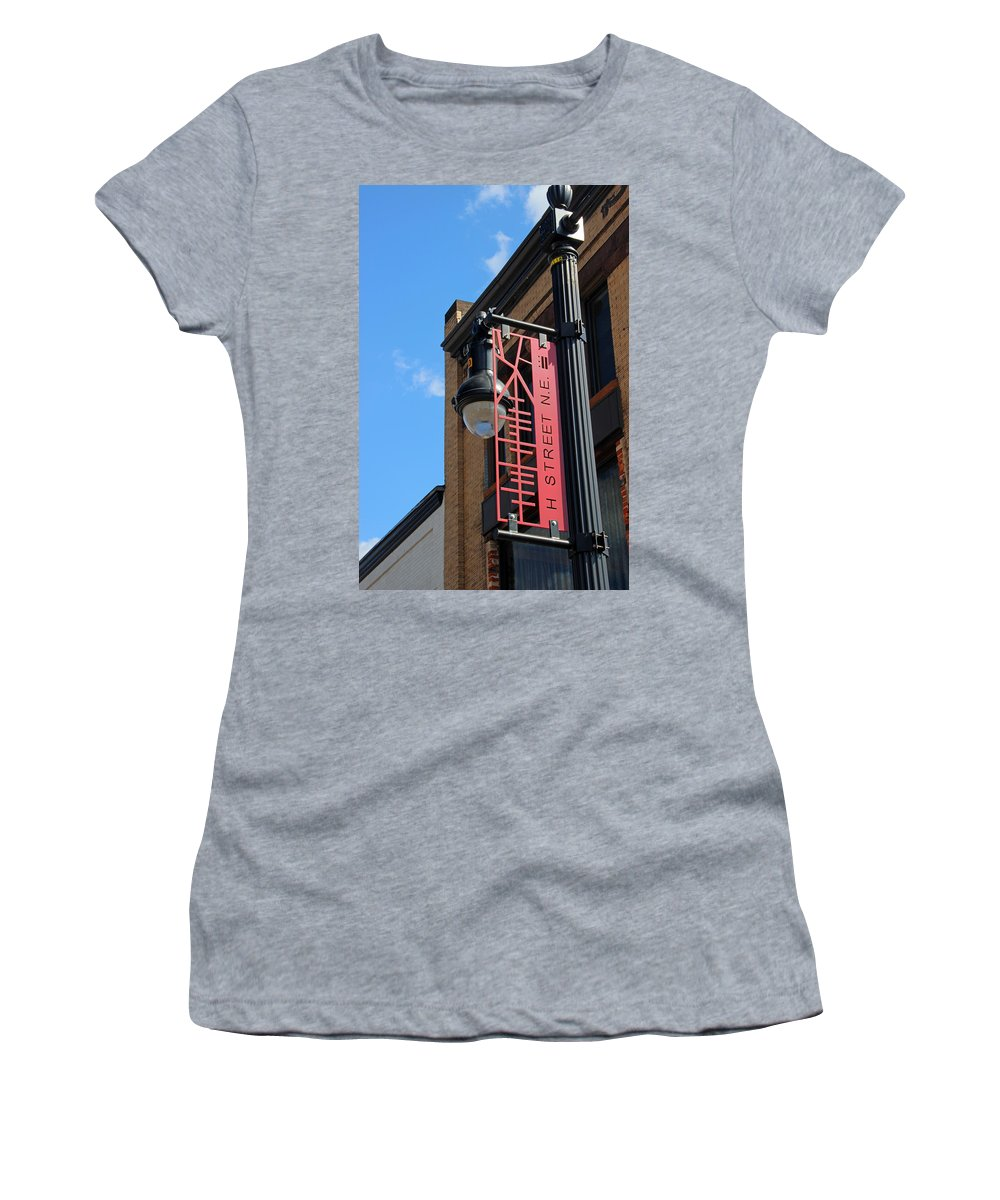 House Women's T-Shirt (Athletic Fit) featuring the photograph H Street by Carolyn Stagger Cokley