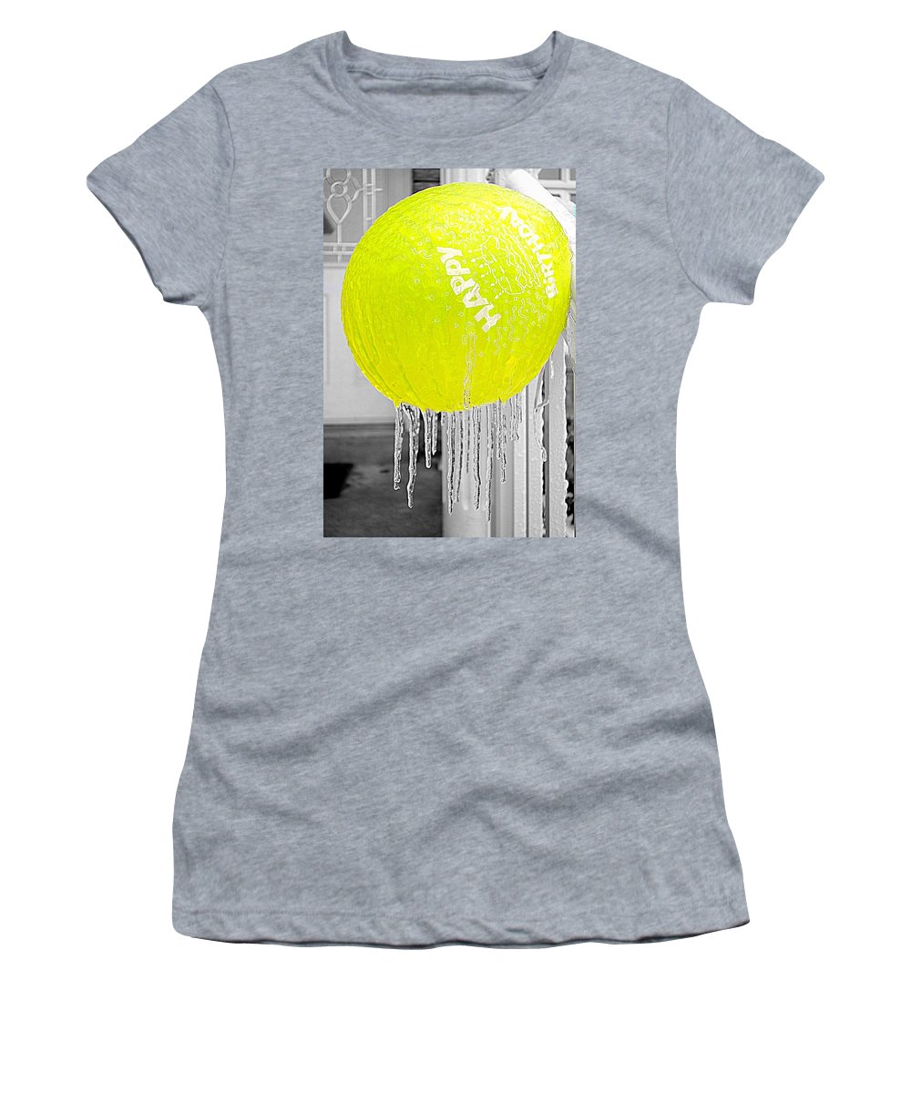 Ice Women's T-Shirt featuring the photograph Happy Freezing Birthday by Valentino Visentini