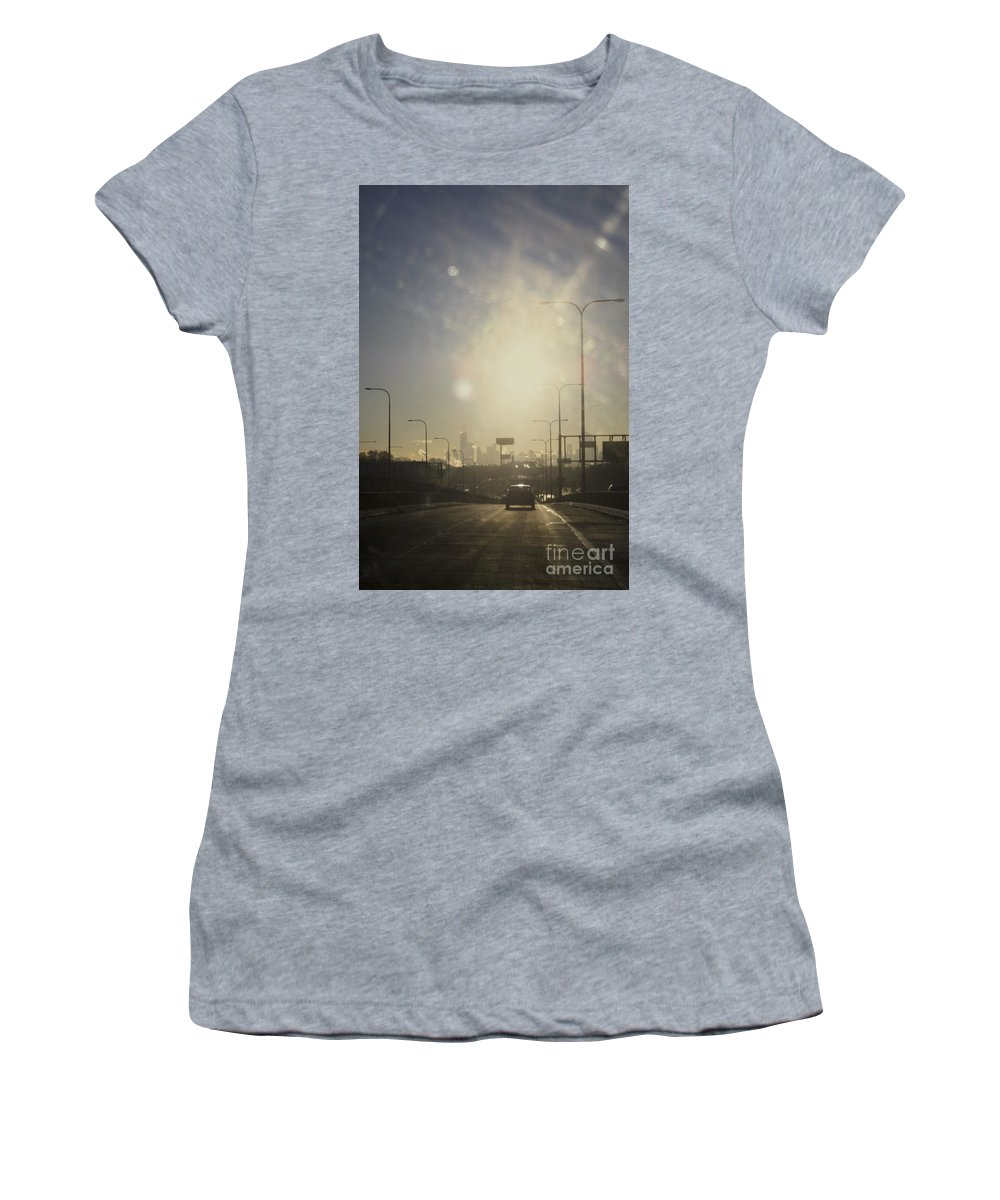 City Women's T-Shirt featuring the photograph Heading South On The Kennedy by Margie Hurwich