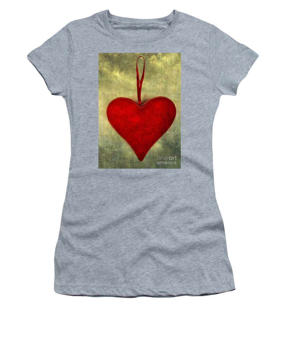 Love Women's T-Shirt featuring the photograph Heart Shape by Bernard Jaubert