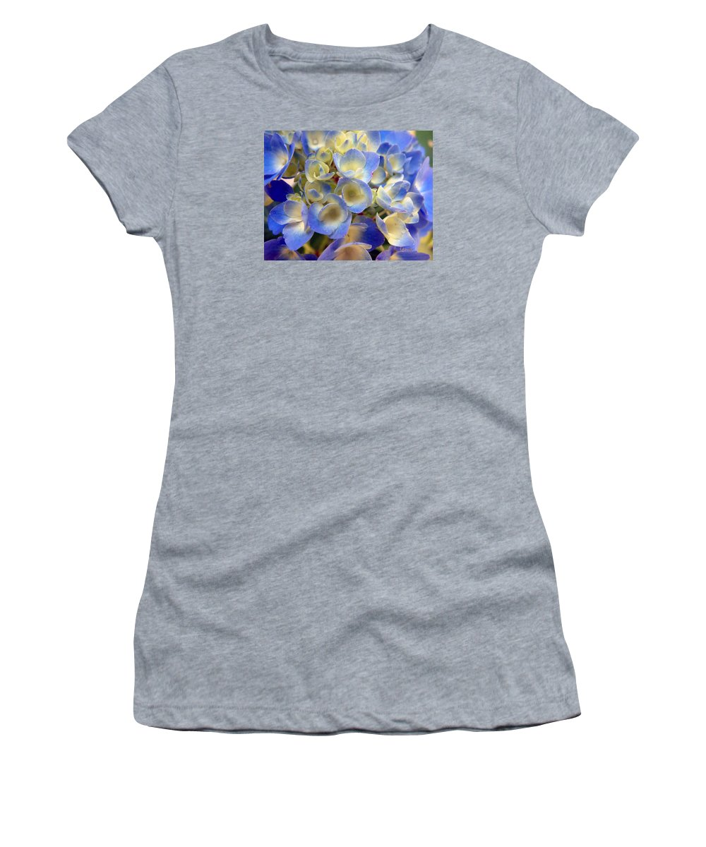 Floral Women's T-Shirt (Athletic Fit) featuring the photograph Heavenly Blues by RC DeWinter