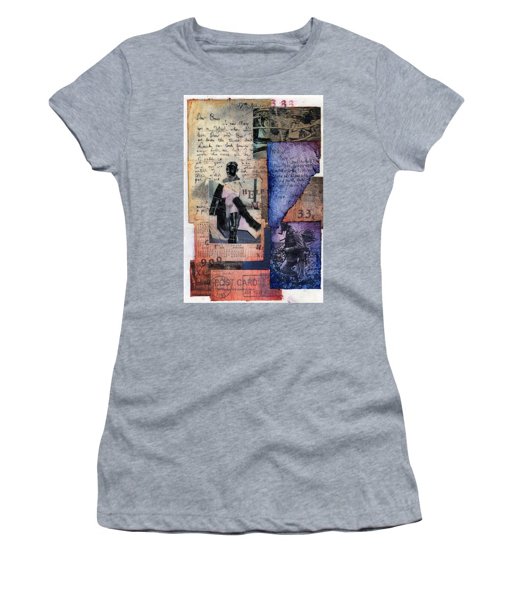 Horror Women's T-Shirt featuring the painting Help Me by Sean Parnell