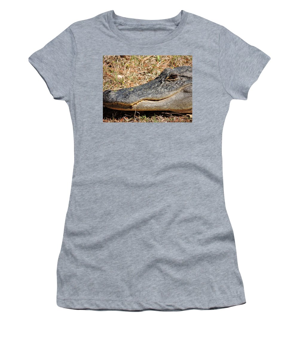 Heres Looking At You Women's T-Shirt (Athletic Fit) featuring the photograph Heres Looking At You by Kim Pate