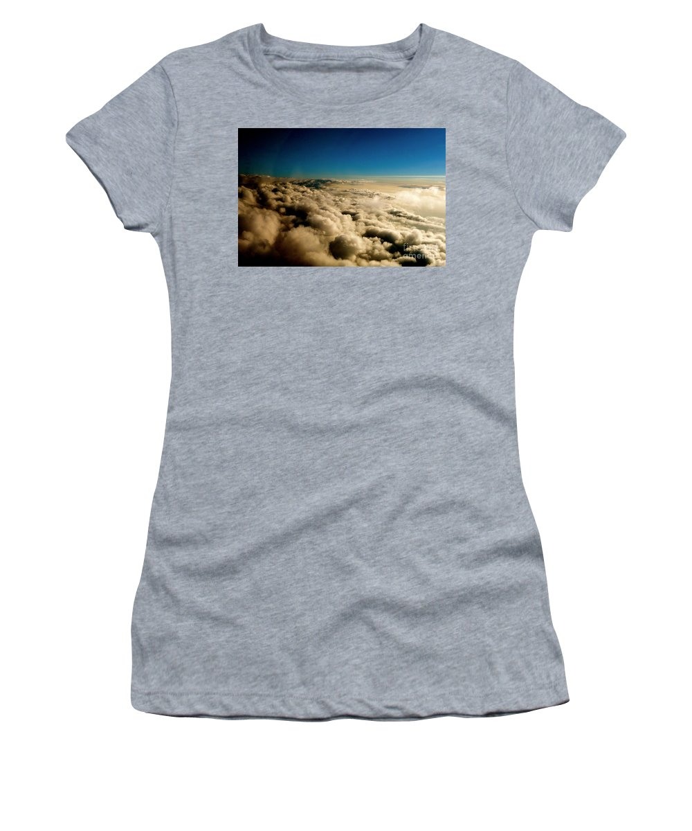 Clouds Women's T-Shirt featuring the photograph High Above by Jacqueline Athmann