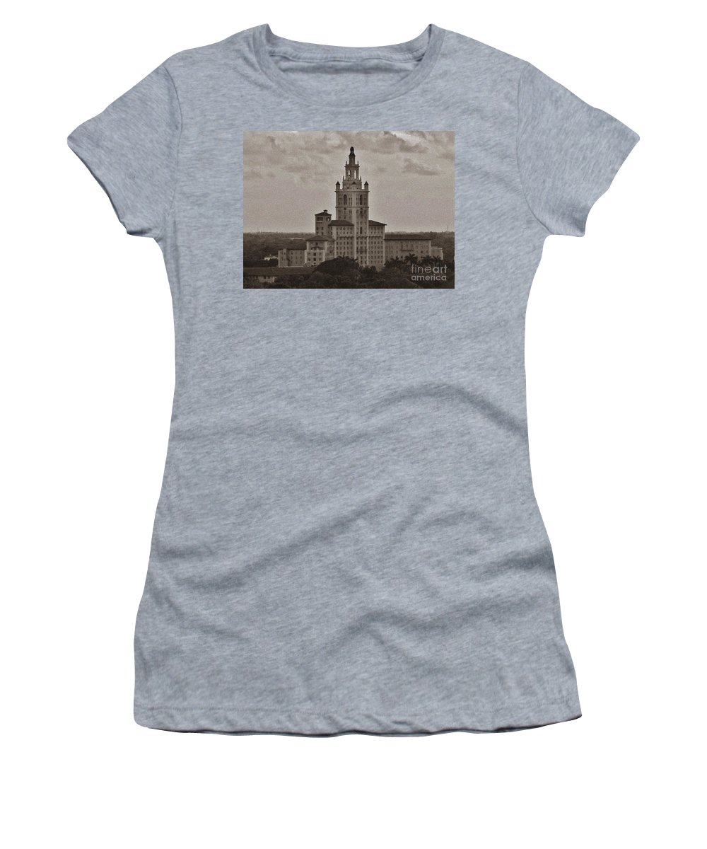 Miami Women's T-Shirt (Athletic Fit) featuring the photograph Historic Biltmore Hotel by Keri West