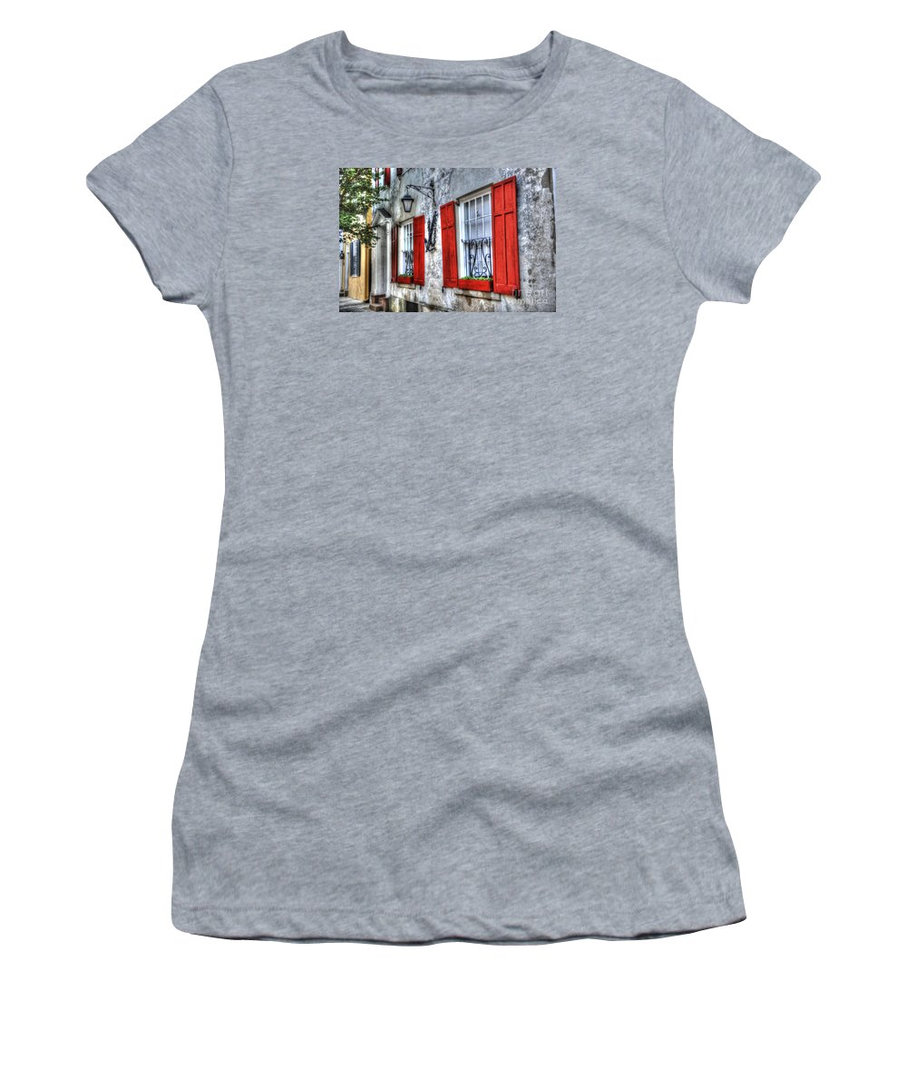Historic Women's T-Shirt (Athletic Fit) featuring the photograph Historic Charleston Pirates House by Dale Powell