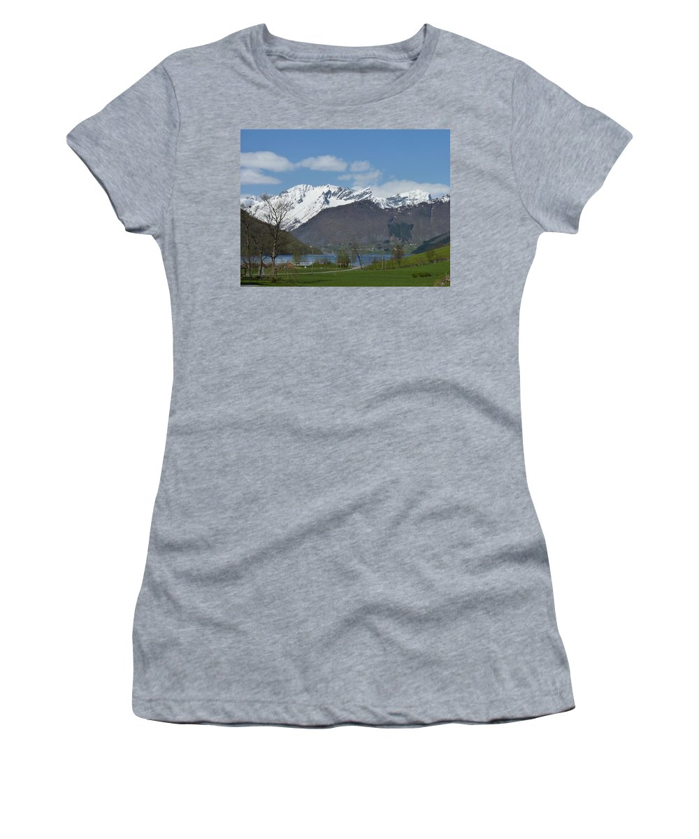 Women's T-Shirt (Athletic Fit) featuring the photograph Hjorundfjord by Katerina Naumenko