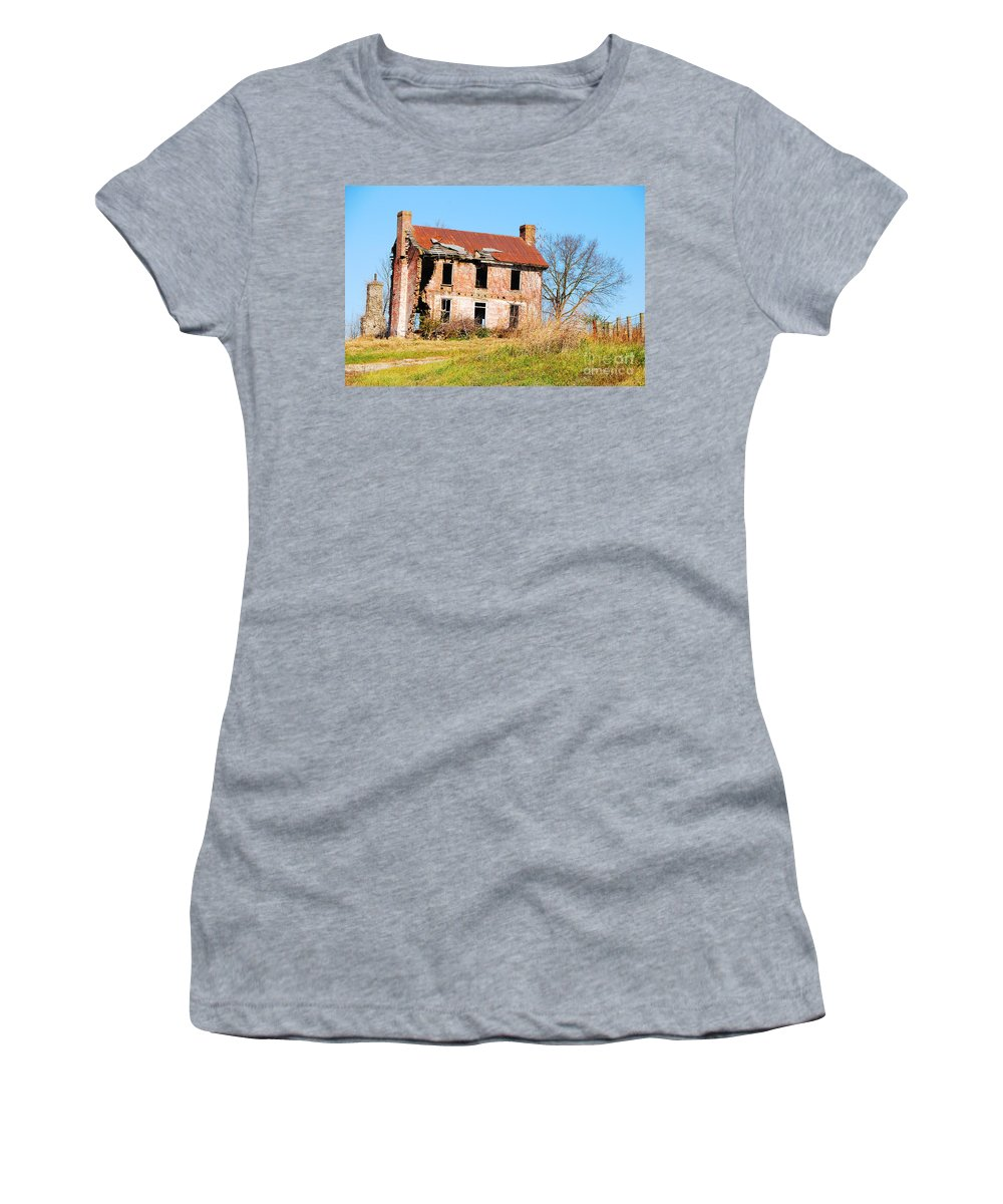 Structure Women's T-Shirt featuring the photograph Holding On To Yesterday by Mary Carol Story