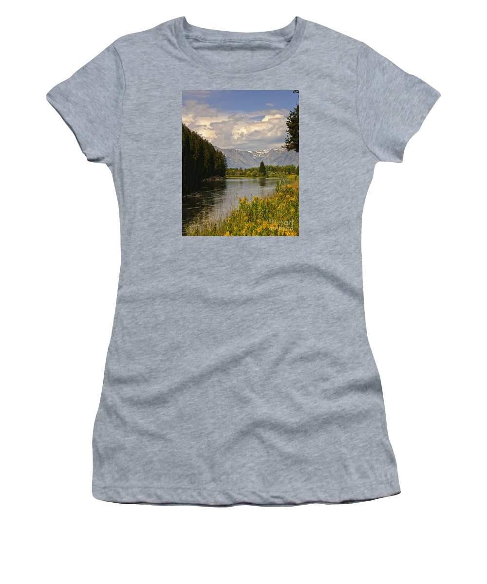 Vista Women's T-Shirt featuring the photograph Homeground Waters Landscape by Timothy Flanigan
