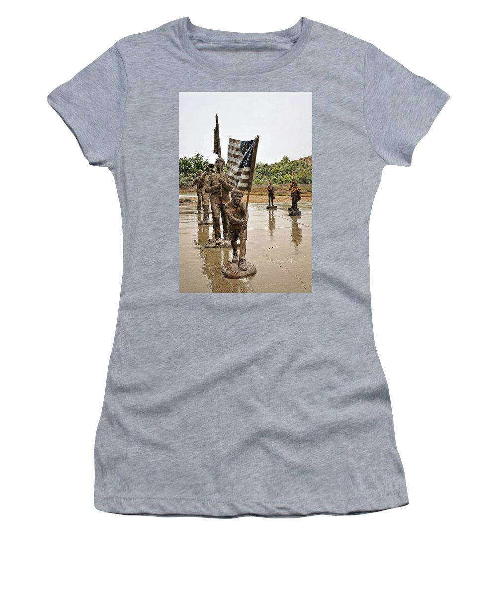 Melba Women's T-Shirt featuring the photograph Honoring America by Image Takers Photography LLC