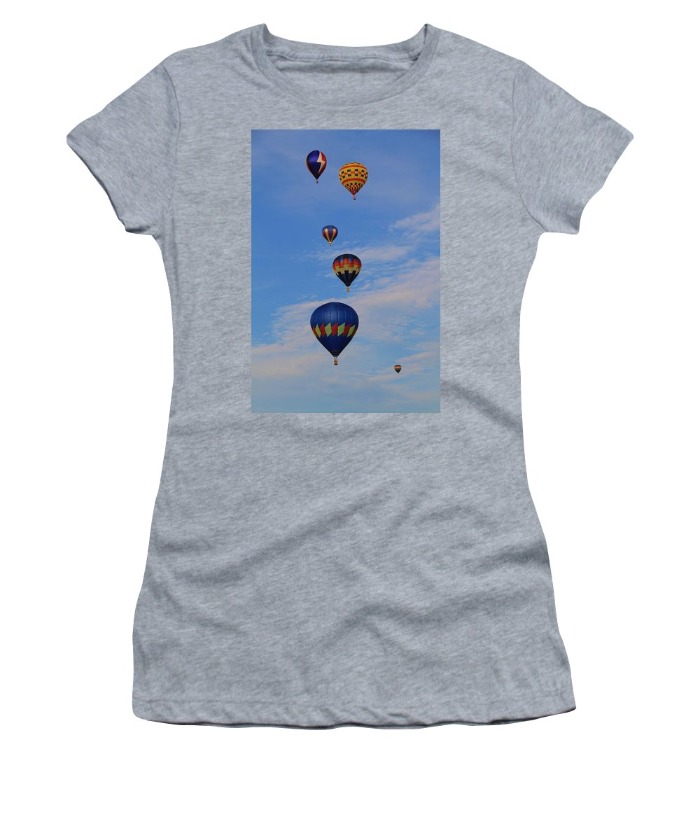 Hot Air Balloon Photograph Women's T-Shirt (Athletic Fit) featuring the photograph Hot Air by Dan Sproul