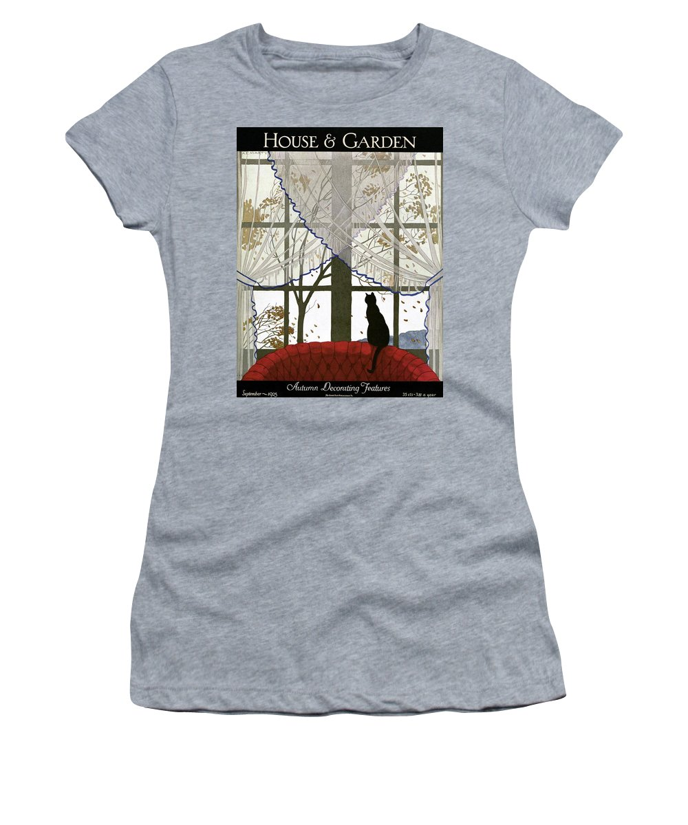 Illustration Women's T-Shirt featuring the photograph House And Garden Cover by Andre E. Marty
