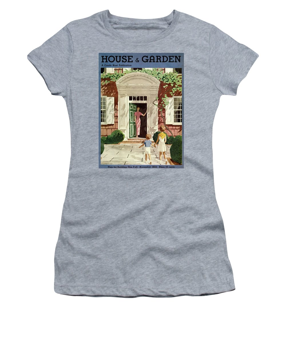 House And Garden Women's T-Shirt featuring the photograph House And Garden Cover by Pierre Brissaud