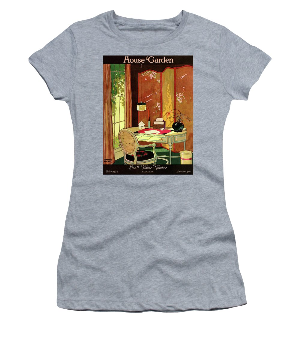 House And Garden Women's T-Shirt featuring the photograph House And Garden Small House Number by Clayton Knight