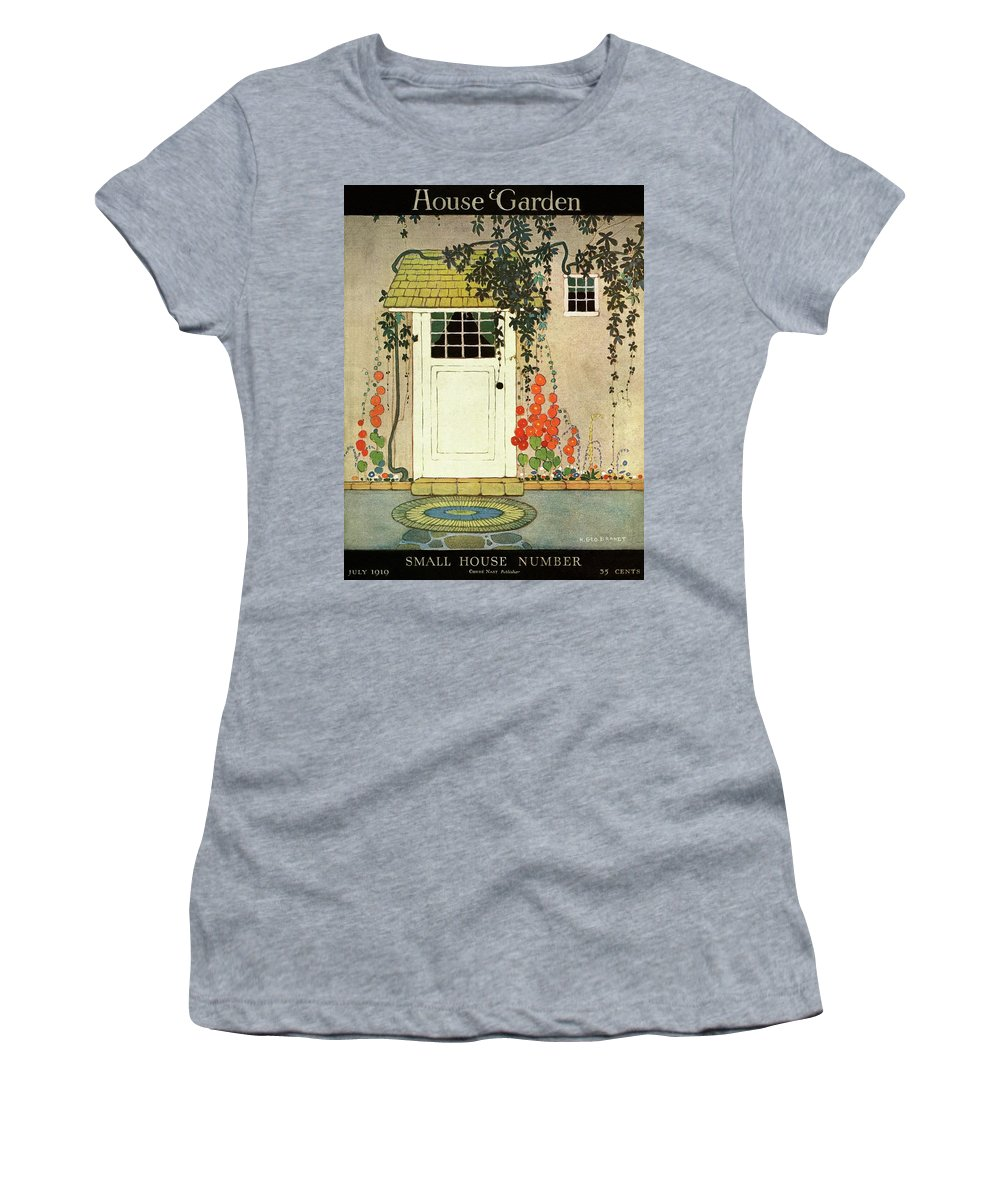 House And Garden Women's T-Shirt featuring the photograph House And Garden Small House Number Cover by H. George Brandt