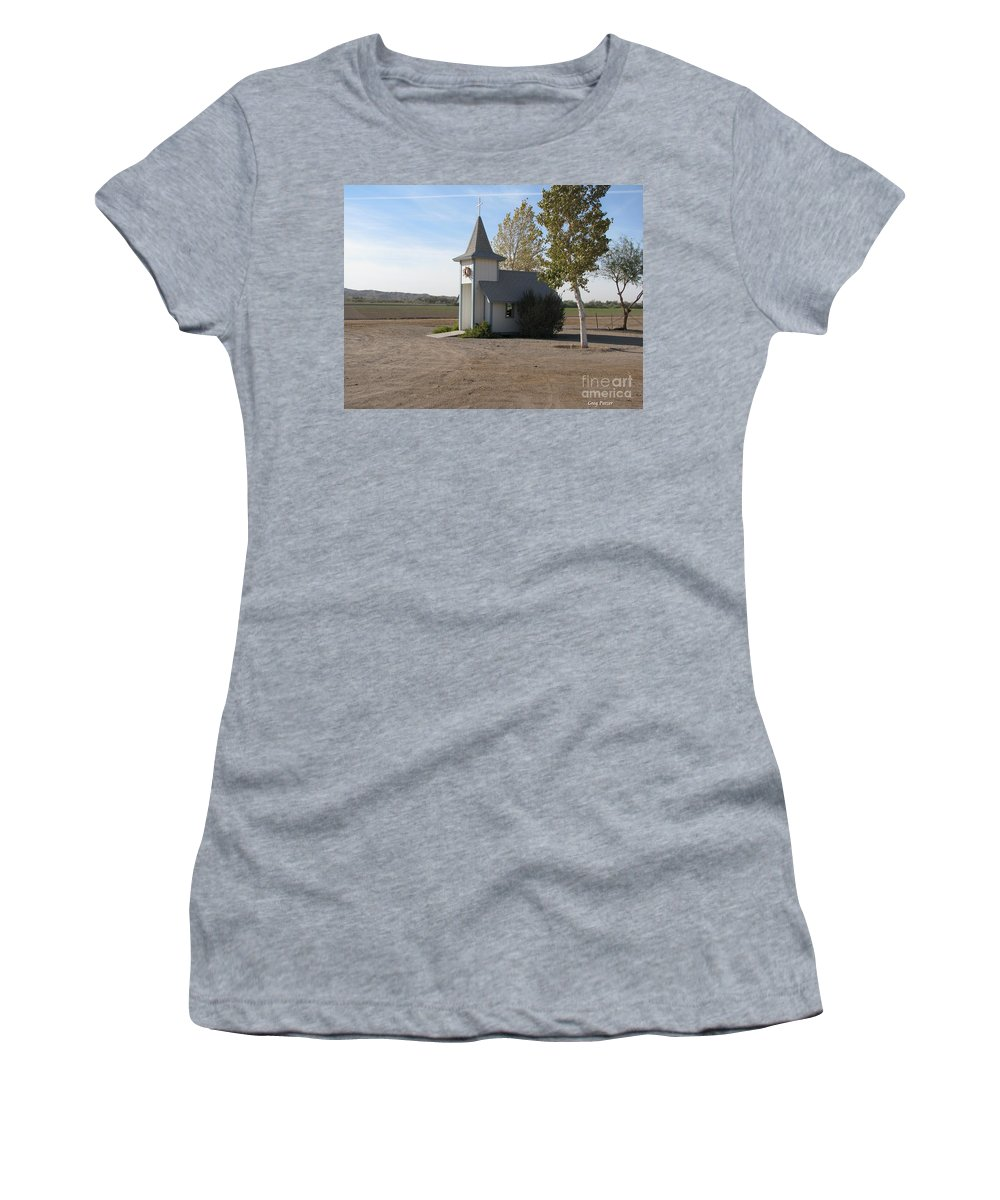 Patzer Women's T-Shirt (Athletic Fit) featuring the photograph House Of The Lord by Greg Patzer