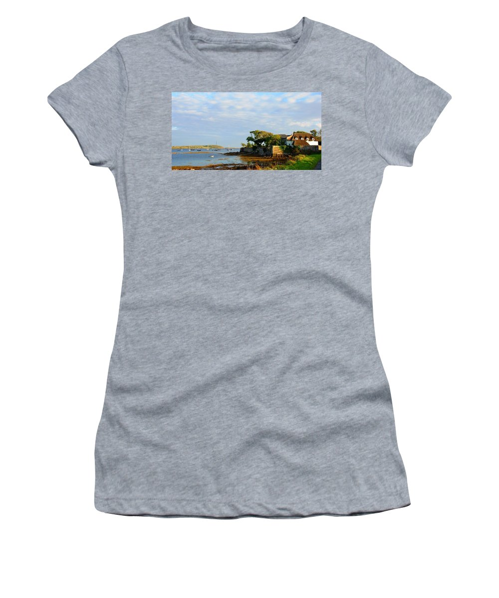 Thatch Women's T-Shirt featuring the photograph House With A View by Charlie and Norma Brock