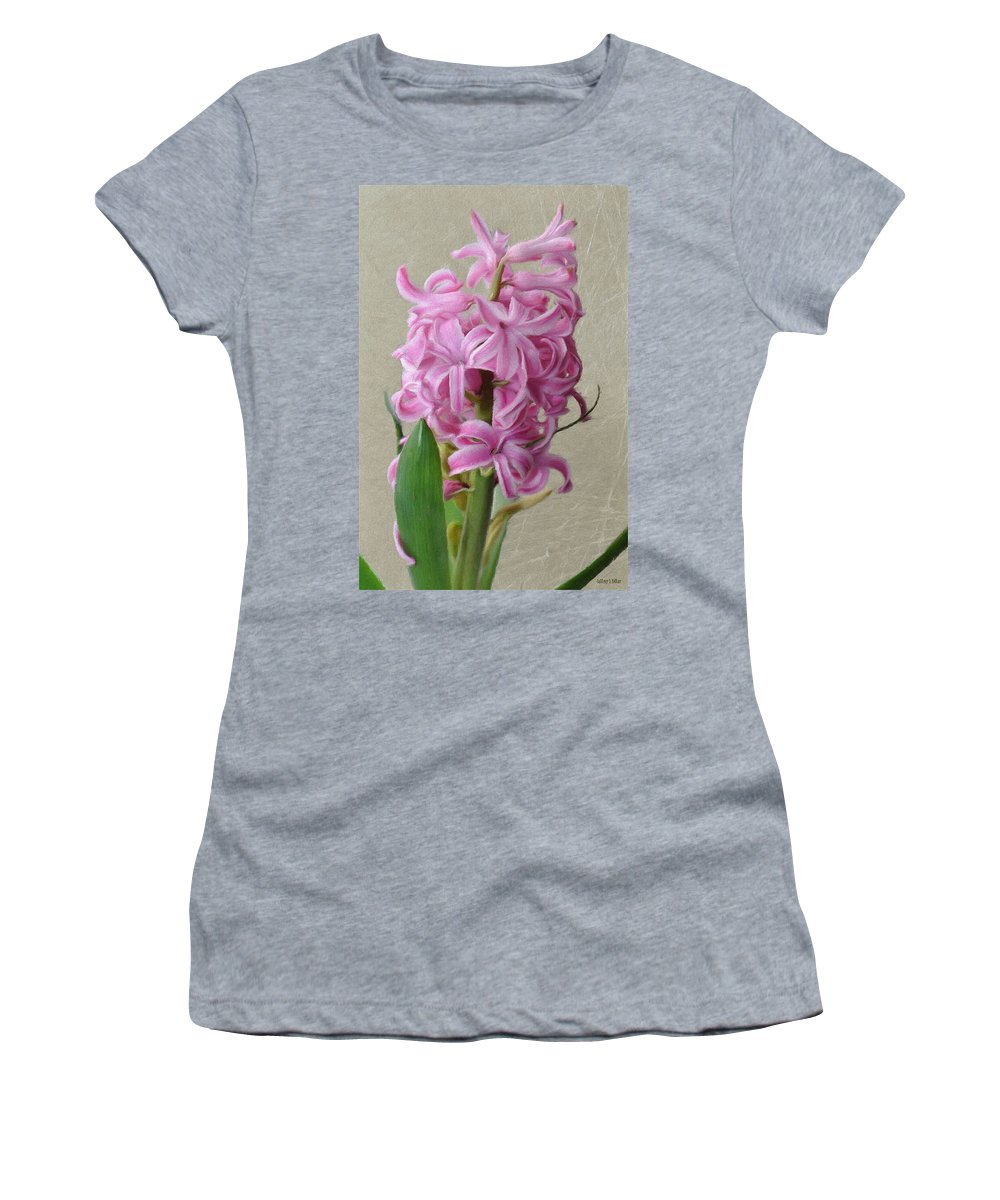 Bloom Women's T-Shirt (Athletic Fit) featuring the painting Hyacinth Pink by Jeffrey Kolker