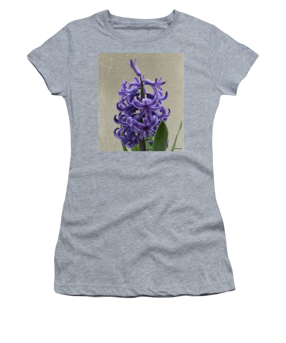 Bloom Women's T-Shirt (Athletic Fit) featuring the painting Hyacinth Purple by Jeffrey Kolker