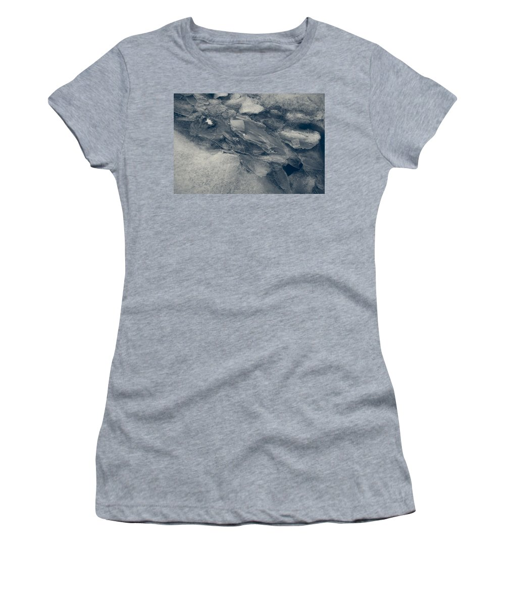 Ice Women's T-Shirt (Athletic Fit) featuring the photograph Ice Tones by David Stone
