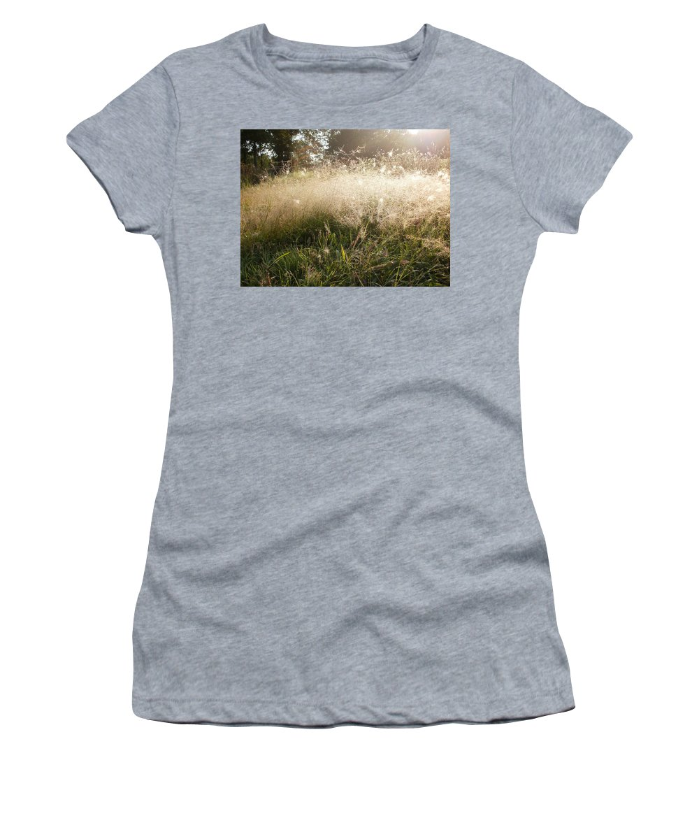 Field Women's T-Shirt featuring the photograph Illuminated by Desiree Holloway