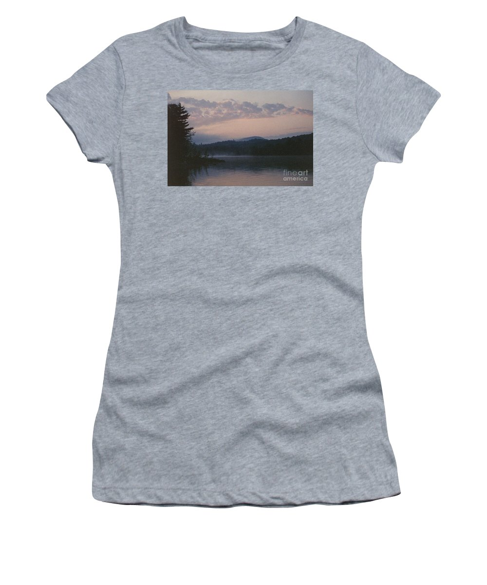 Indian Lake Women's T-Shirt (Athletic Fit) featuring the photograph Indian Lake by J Barbehenn