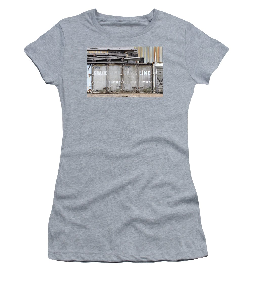 Grace Line Women's T-Shirt featuring the photograph Industrial Wasteland by Jannis Werner