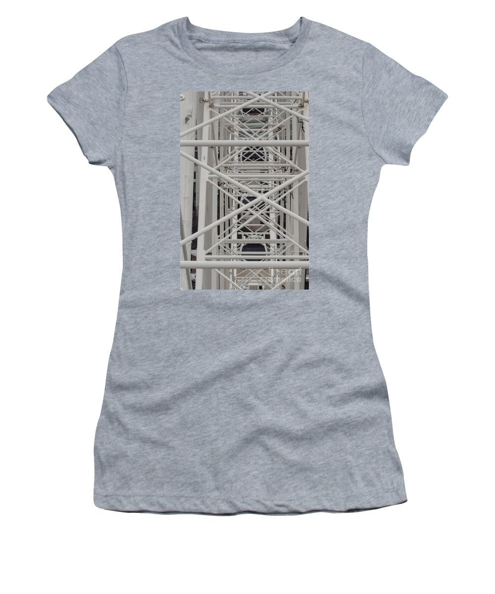 Ferris Wheel Women's T-Shirt featuring the photograph Inside Of The Ferris Wheel by Donna Brown