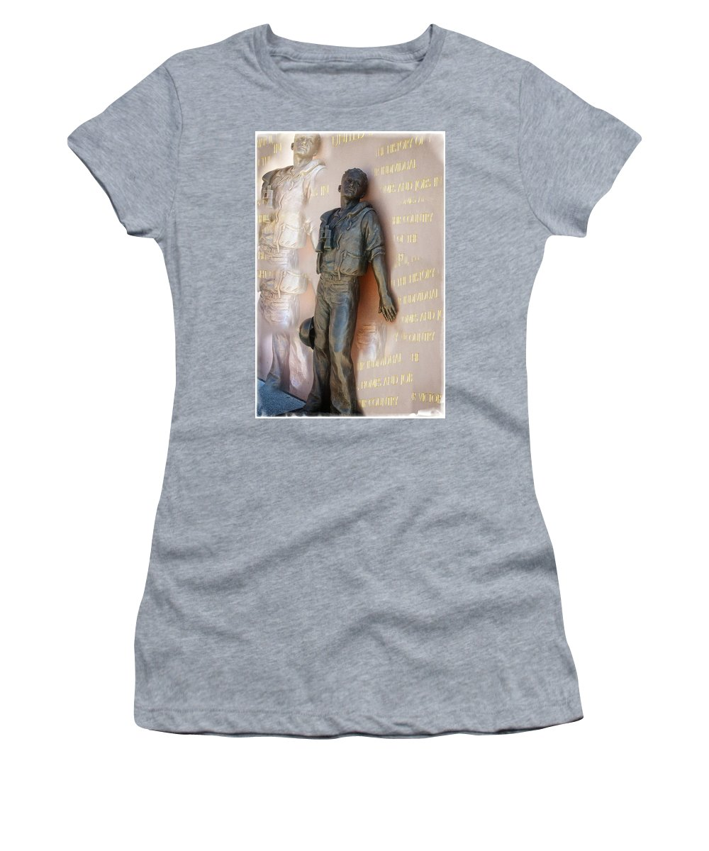 San Diego Women's T-Shirt (Athletic Fit) featuring the photograph Inside The Man by Image Takers Photography LLC - Carol Haddon