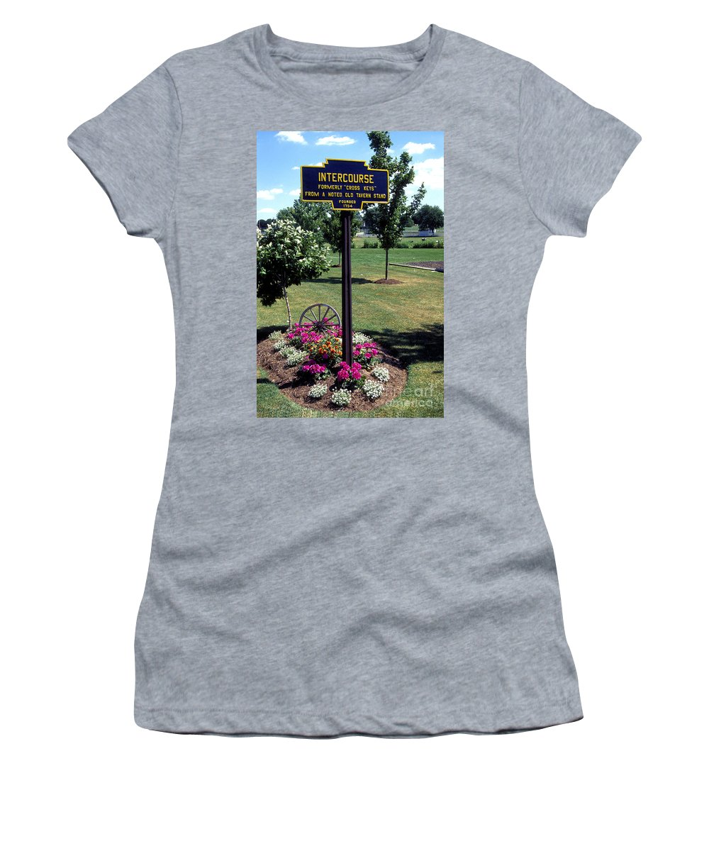 Intercourse Women's T-Shirt featuring the photograph Intercourse by Paul W Faust - Impressions of Light