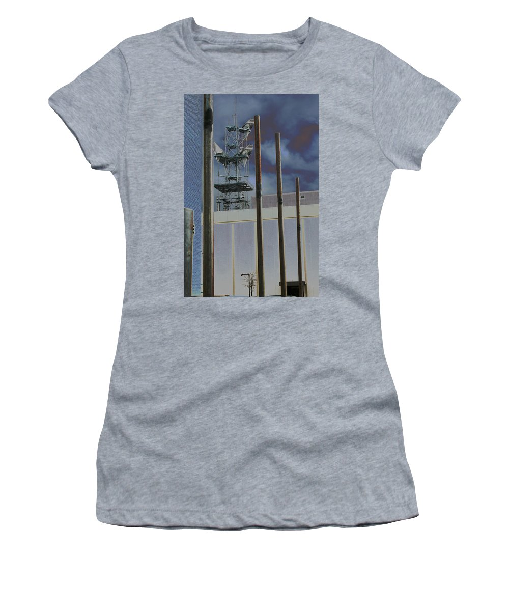 Industrial Women's T-Shirt (Athletic Fit) featuring the photograph Invisible Industry by Ric Bascobert
