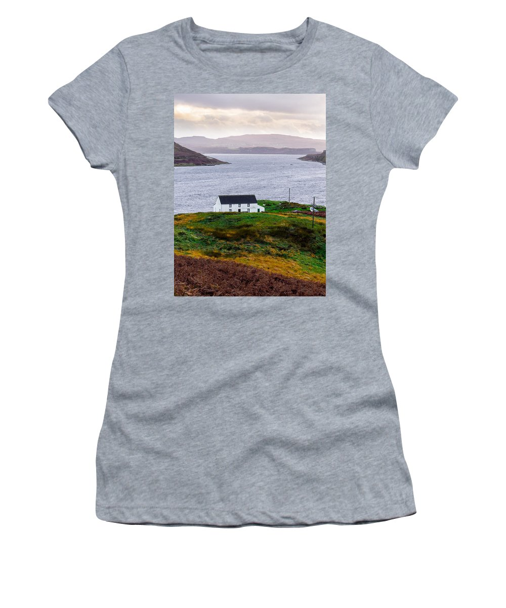 House Women's T-Shirt featuring the photograph Isle Of Skye Cottage by Mark Llewellyn