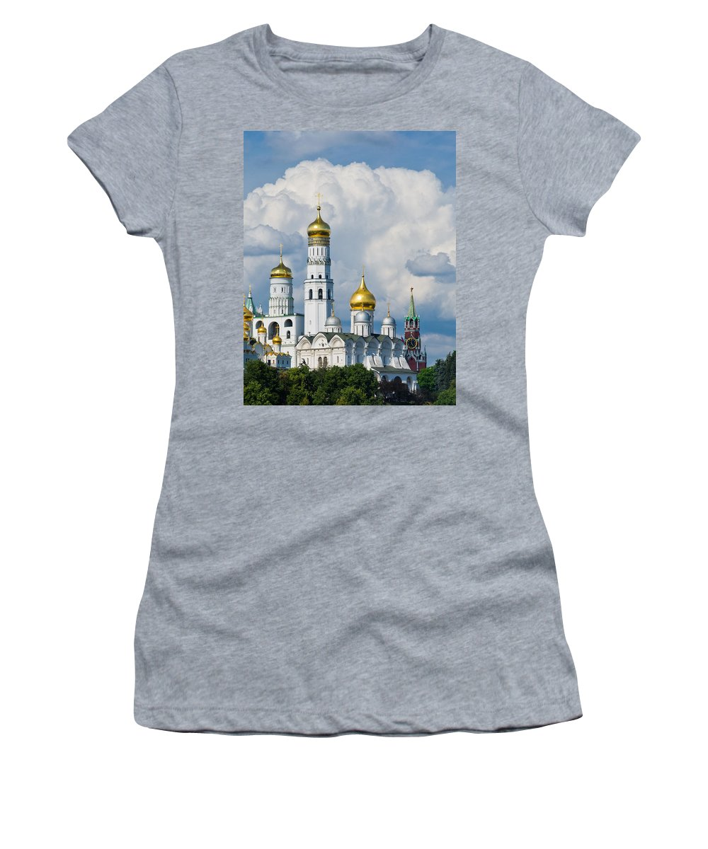Ancient Women's T-Shirt (Athletic Fit) featuring the photograph Ivan The Great Bell Tower Of Moscow Kremlin - Featured 3 by Alexander Senin