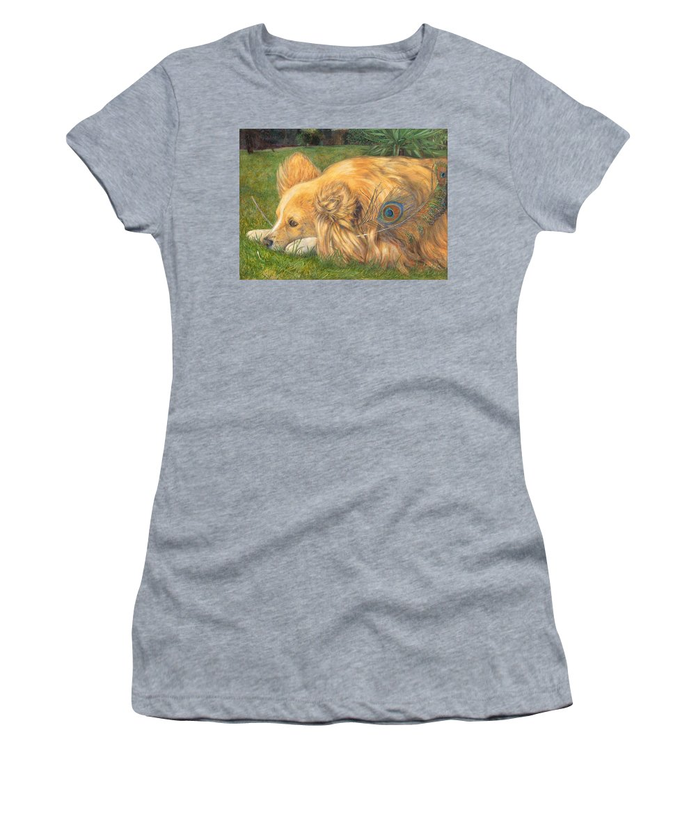 Dog Women's T-Shirt featuring the painting Jealous Jessie by Emily Hunt and William Holman Hunt