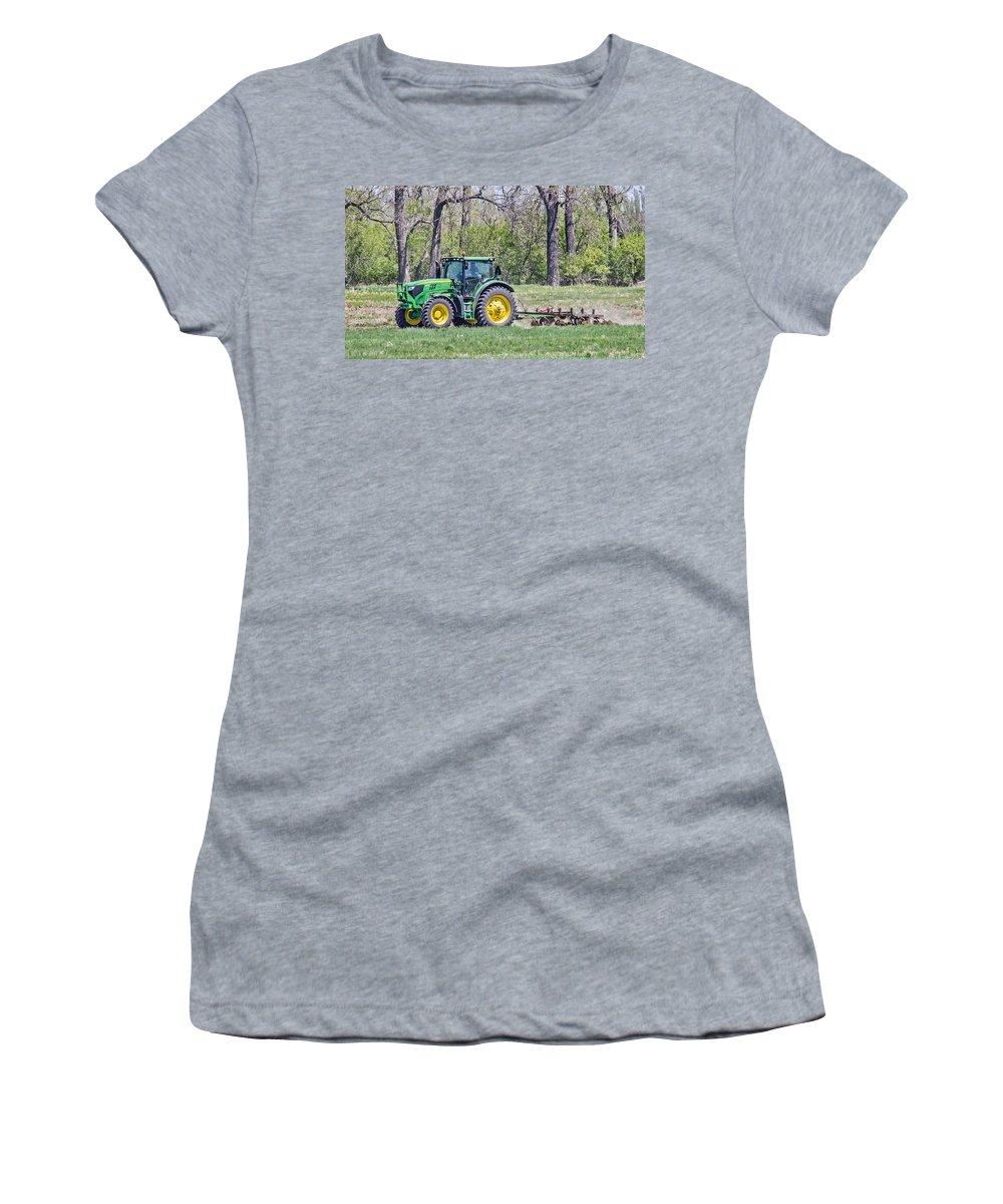 John Deere Women's T-Shirt featuring the photograph John Deere 1 by Chad Rowe