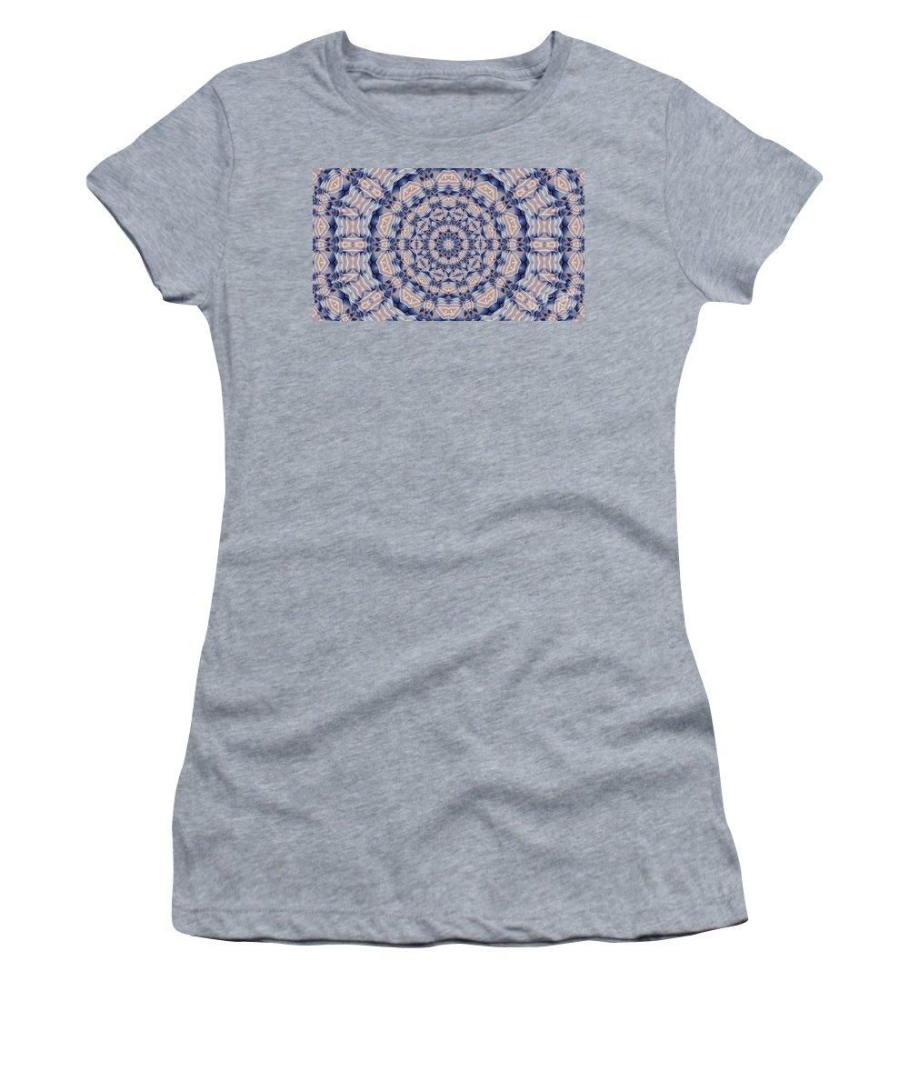 Kaleidoscope Women's T-Shirt featuring the digital art Kaleidoscope 19 by Ron Bissett