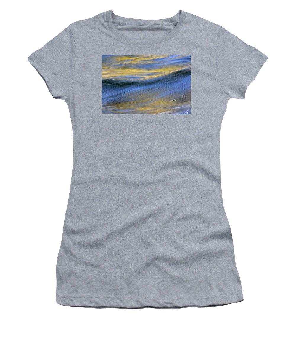 River Women's T-Shirt featuring the photograph Kawaakari by Cathie Douglas