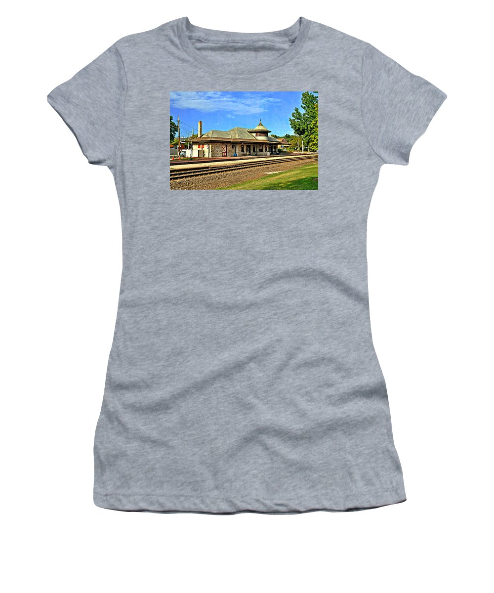 Train Women's T-Shirt (Athletic Fit) featuring the photograph Kirkwood Station by Marty Koch