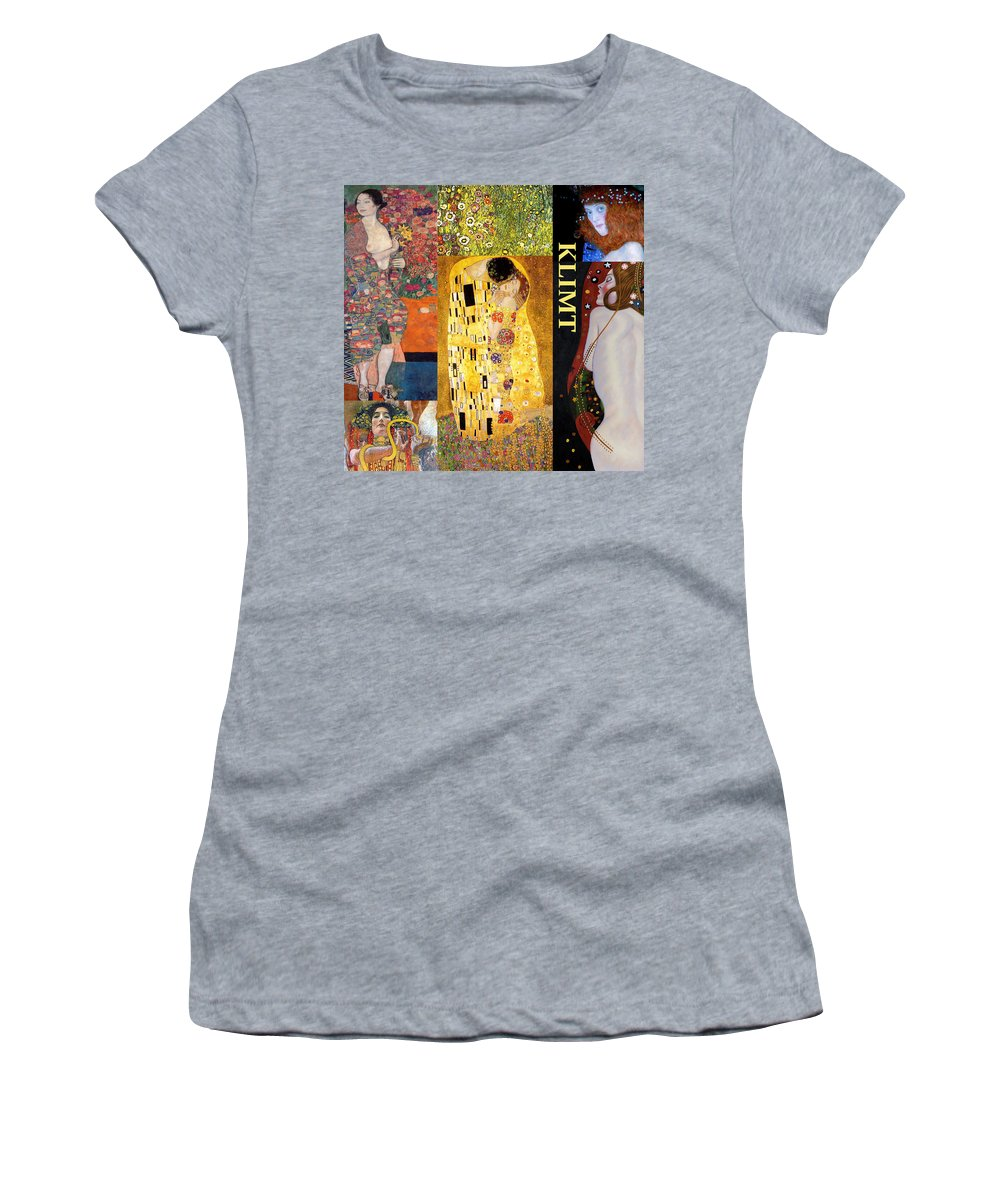 Collage Women's T-Shirt featuring the digital art Klimt Collage by Philip Ralley