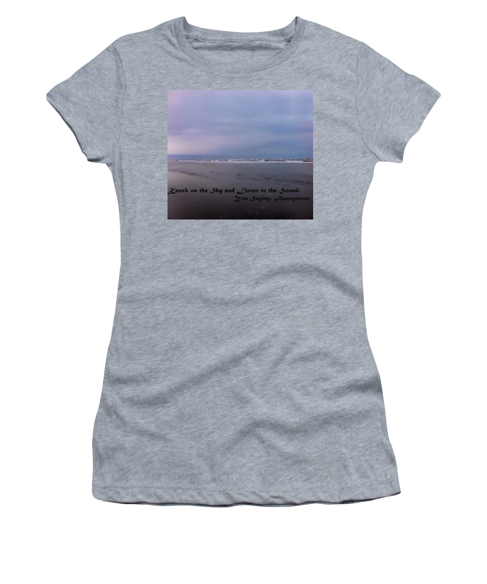 Women's T-Shirt featuring the photograph Knock On The Sky by Cathy Anderson