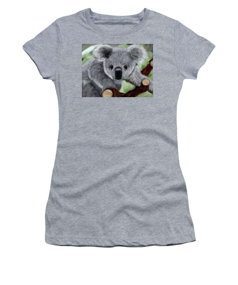 Koko Women's T-Shirt featuring the digital art Koko by Mathieu Lalonde