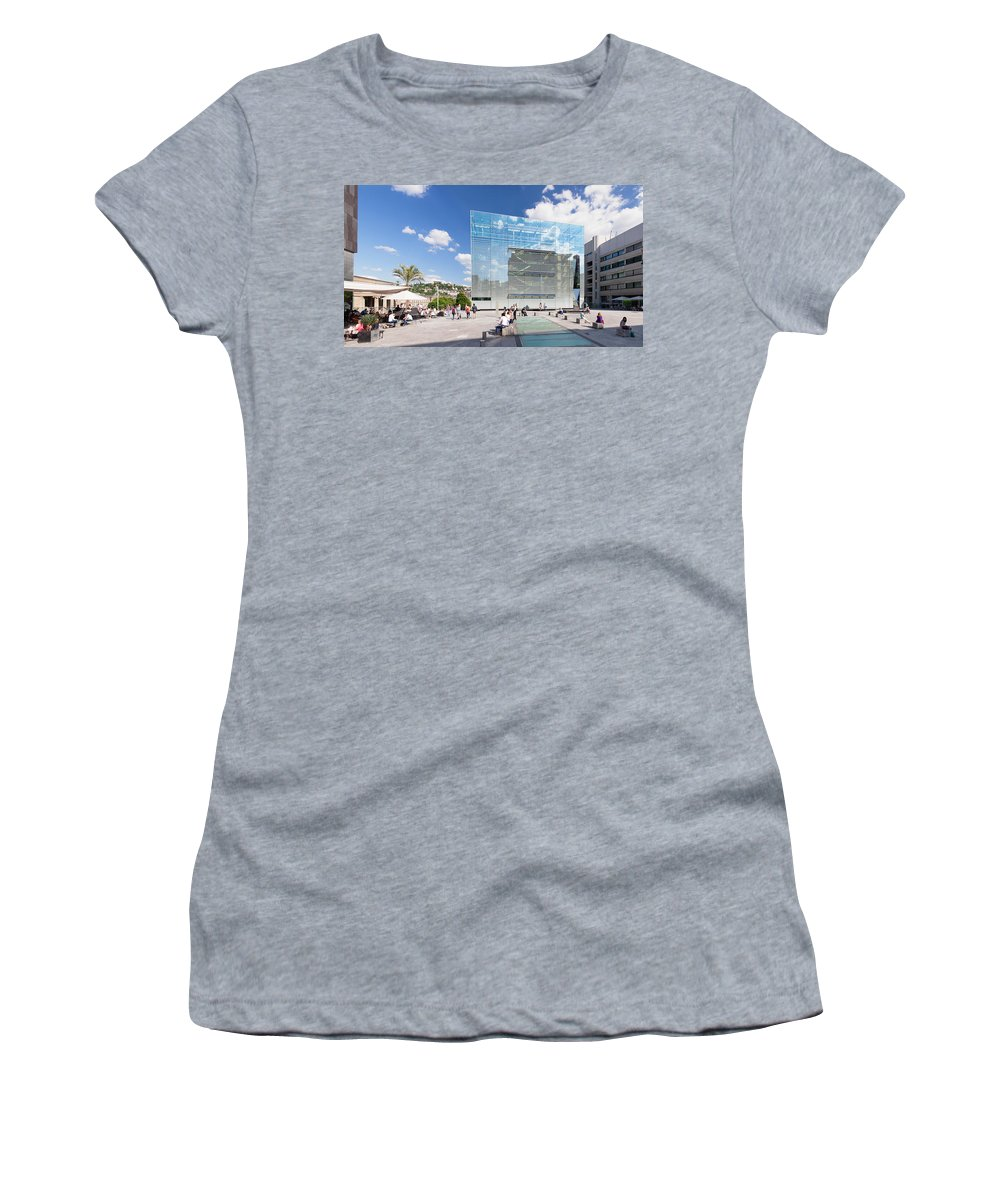 Photography Women's T-Shirt featuring the photograph Kunstmuseum Stuttgart Museum by Panoramic Images