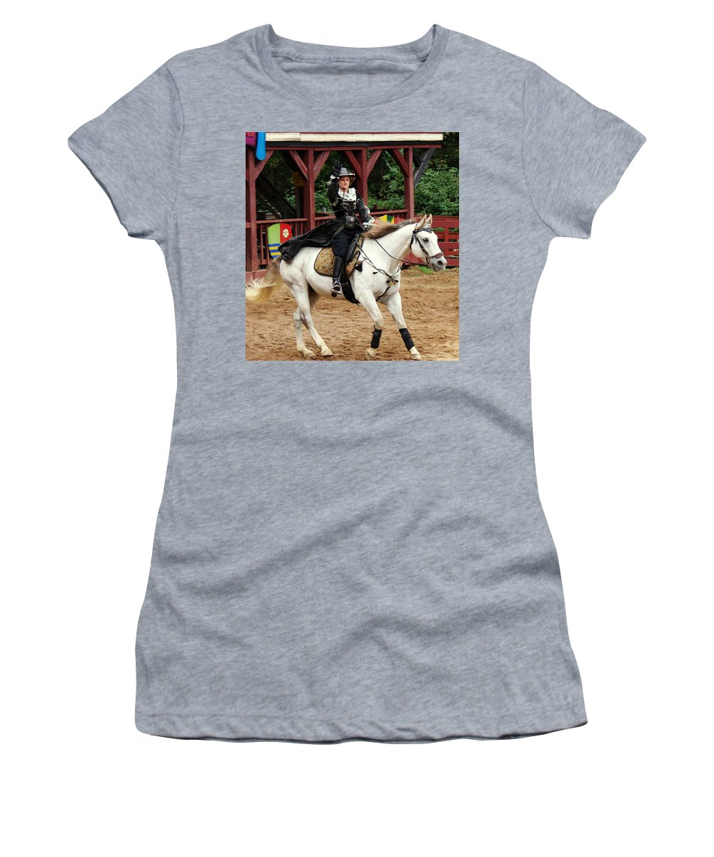Renaissance Women's T-Shirt (Athletic Fit) featuring the photograph Lady Of Arms by Rodney Lee Williams