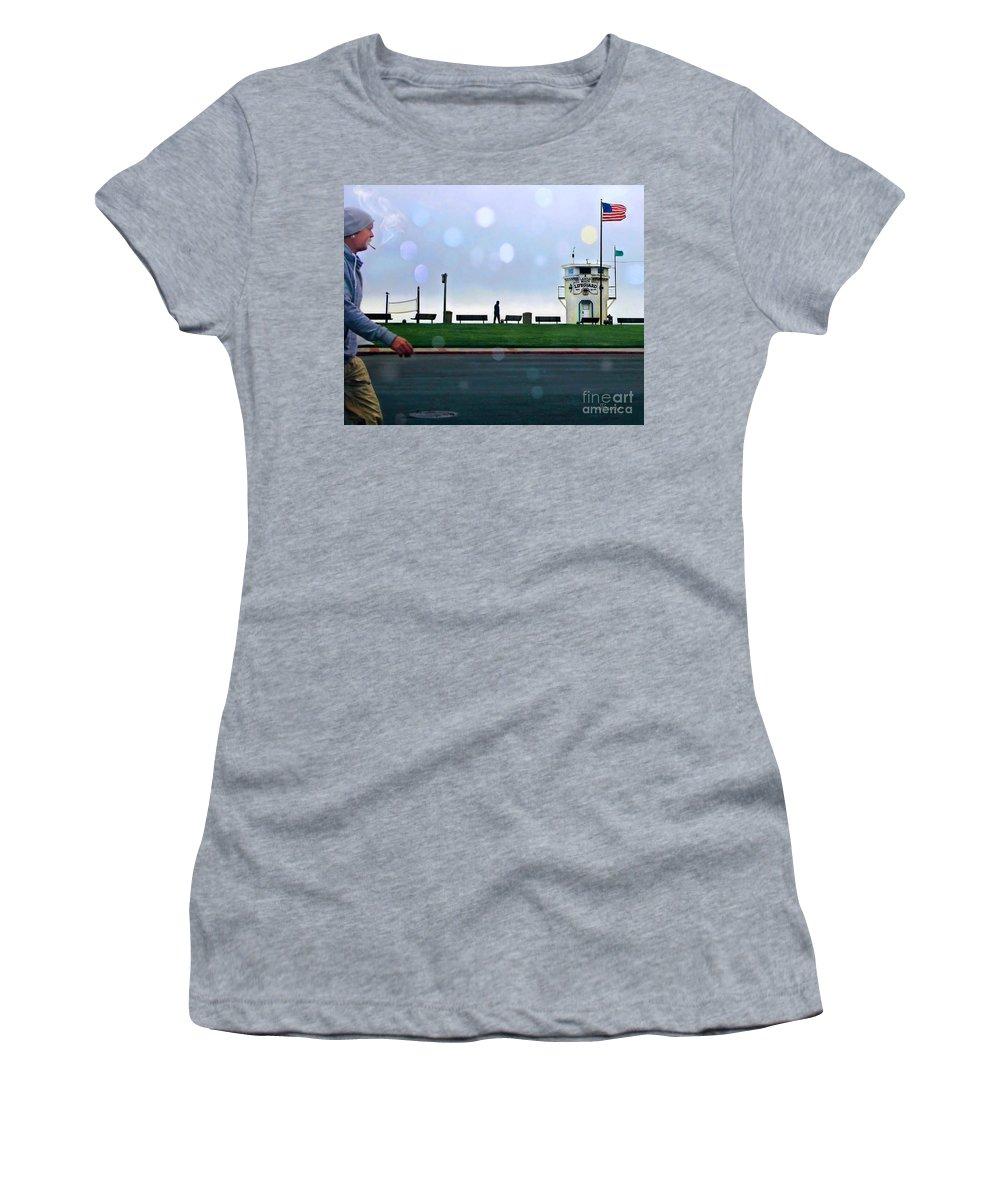 Laguna Women's T-Shirt featuring the photograph Laguna Living-lifeguard Station by Jennie Breeze