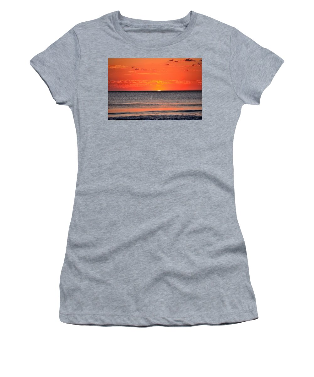 Last Sunset Women's T-Shirt featuring the photograph Last Sunset by Charles J Pfohl
