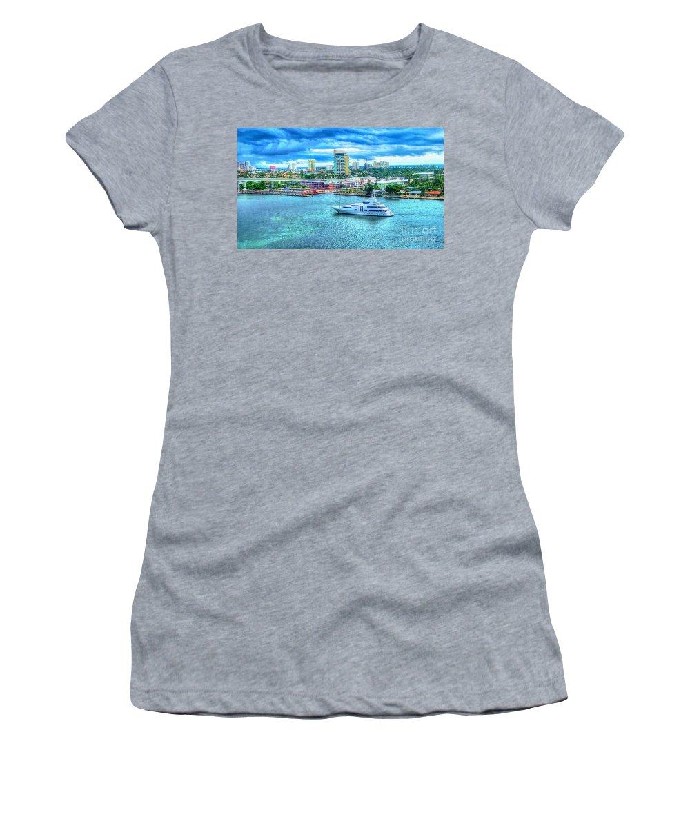 Ft. Lauderdale Women's T-Shirt featuring the photograph Lauderdale by Debbi Granruth