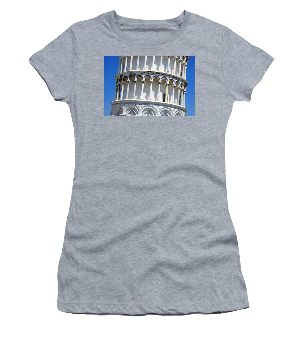 Tuscany Women's T-Shirt (Athletic Fit) featuring the photograph Leaning Tower Of Pisa by Chevy Fleet